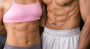 Male And Female Ripped Abs Workout