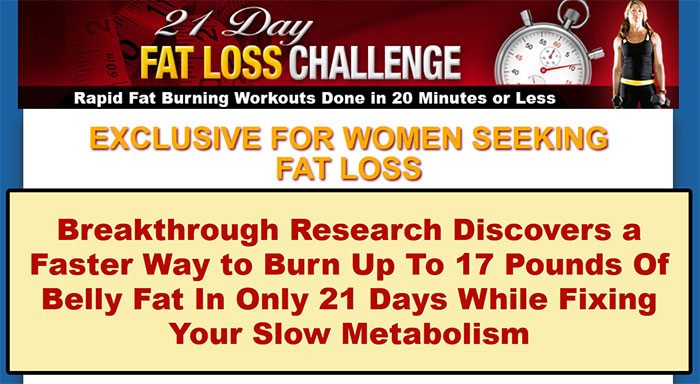 Download The 21 Day Fat Loss Challenge PDF Ebook